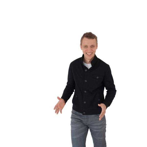 freistellung Matthias lachend